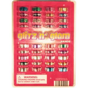 Glitz N Glam Rings Blister Display