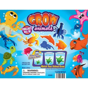 Grow In Water Sea Creatures Display Card