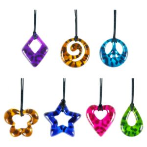 Leopard Print Pendants in 1.1'' Capsules (250 pcs)
