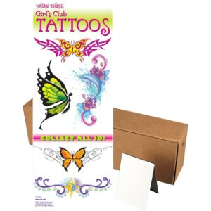 Girls Club Glitter Tattoos in Folders (300 pcs)