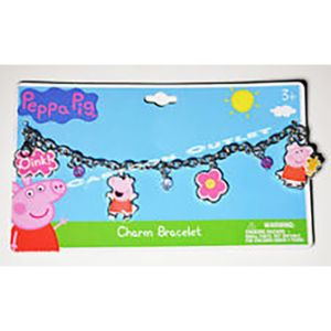 Peppa Pig 7in Charm Bracelet with Metal Charms (24 pcs)