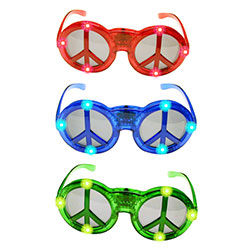 Peace Sign Flashing Glasses