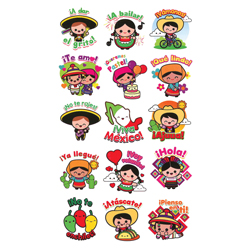 Mexico Lindo Stickers in Folders