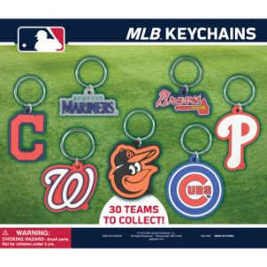 MLB Soft PVC Keychains Display Card
