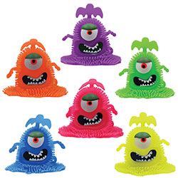 Light-Up Eye Monster Puffer 4'' (12 pcs)