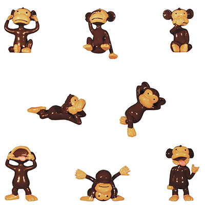 Monkeyin' Around Figurines in Bulk Bag (100 pcs)