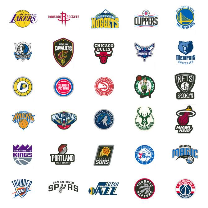 NBA Logo Stickers In Folders 300 pcs   A&A Global Industries