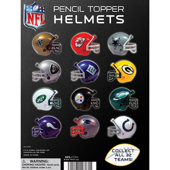 Nfl Football Helmets Tomy Display Card
