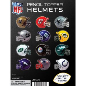 NFL Football Helmets Tomy Display Card
