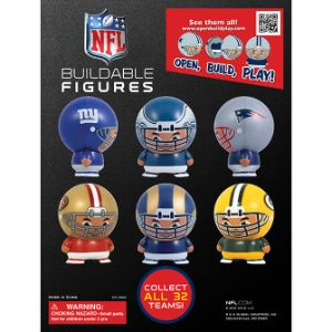 NFL Capsule Buildables Tomy Display