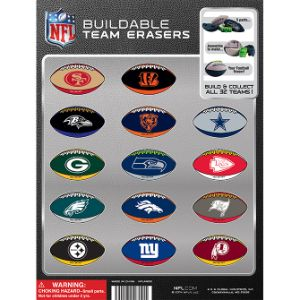 NFL Puzzle Eraser Tomy Display Card