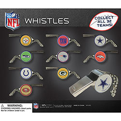 NFL Team Whistles Display Card