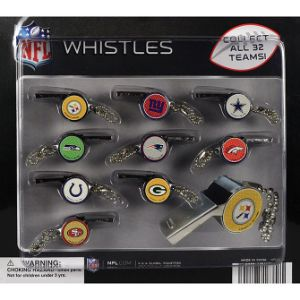NFL Team Whistles Blister Display