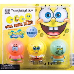 SpongeBob Capsule Buildables Figurines Blister Display