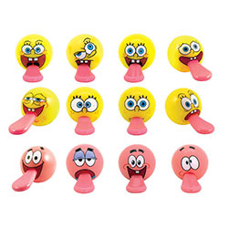 SpongeBob Tongue Tuggerz in 2'' Capsules (250 pcs)