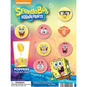 SpongeBob Poppers Display Card