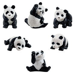 Playful Pandas Figurines in Bulk Bag (100 pcs)