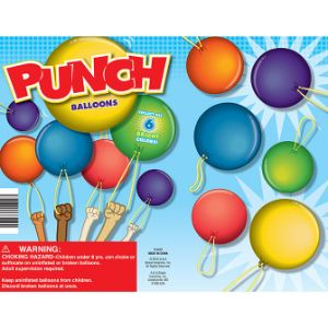 Punch Balloons Display Card