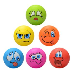 Inflatable Funny Face Balls, 5''