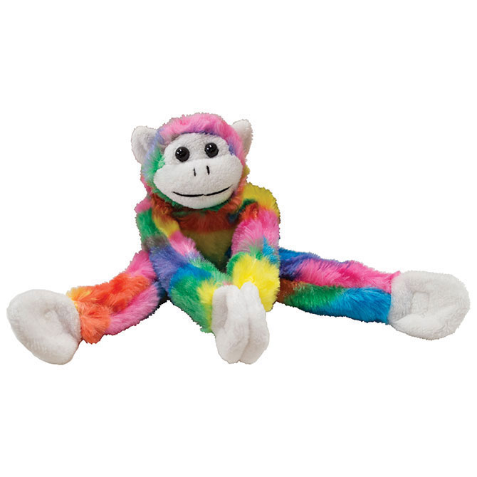 Rainbow Hanging Monkey 12in A A Global Industries
