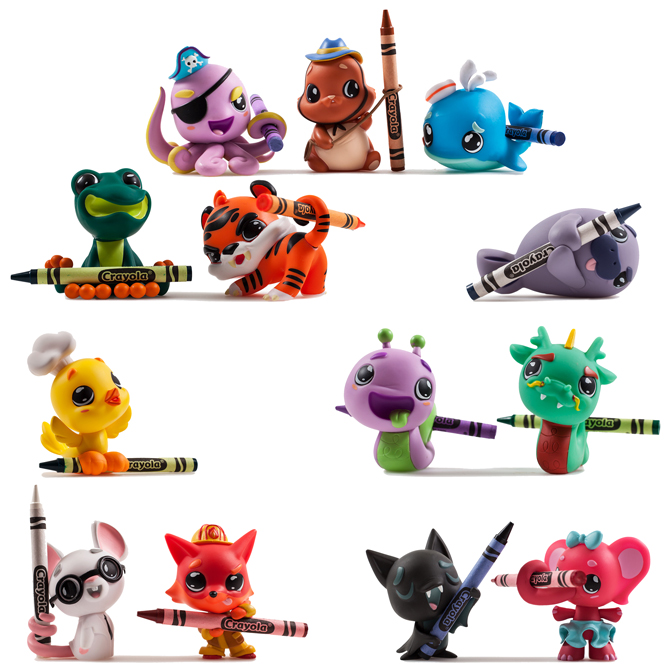 Hanging Kidrobot Crayola Critters In Blind Box 8 50avg