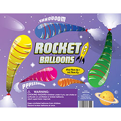 Rocket Balloons in Bulk Bag