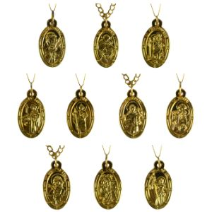 Patron Saints Necklaces in Bulk Bag (100 pcs)