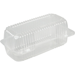 Oblong Hinged Container