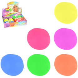 Neon Color Squeeze Ball with White Foam Inside (12 pcs)