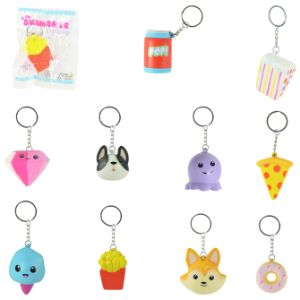 Skwishy Keychain 3in-4in Asst (48 pcs)
