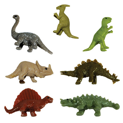 Stretch Dinosaurs in 1.1'' Capsules (250 pcs)