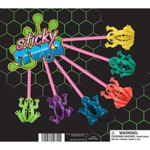 Sticky Frogs Display Card