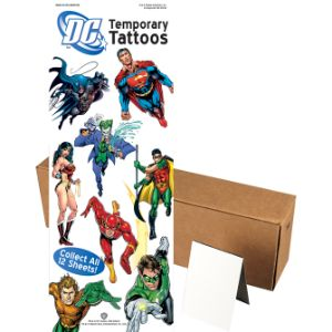 DC Superheroes Tattoos in Folders (300 pcs)