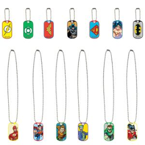 DC Comics Dog Tags in 2'' Capsules