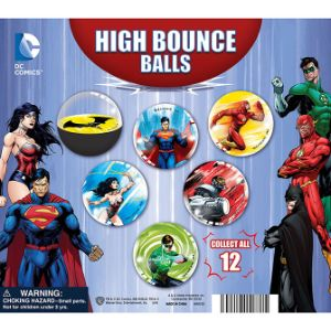 DC Comics Hi-Bounce Balls Display Card
