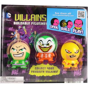 DC Comics Villain Capsule Buildable Figurine Blister Display