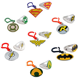 DC Comics Backpack Clips & Power Rings in 2'' Capsules (250 pcs)