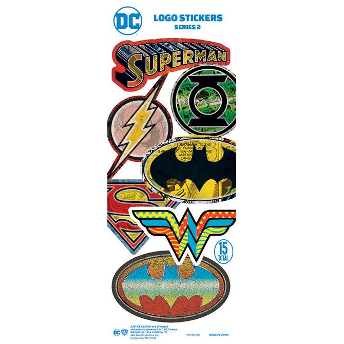 Dc comics logo stickers in folders 300 pcs