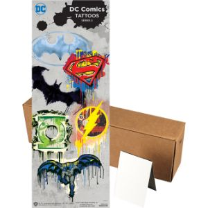DC Comics Logo Tattoos in Folders (300 pcs)