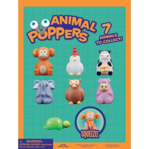 Animal Poppers Tomy Display Card