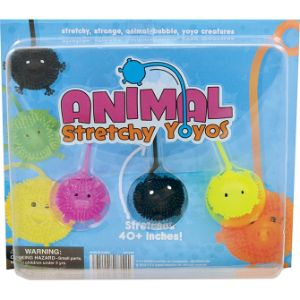 Animal Yo-Yo Balls Blister Display