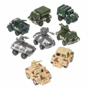 Pull Back Assorted Army Vehicle (12 pcs)