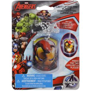 Avengers Light-Up Dog Tag