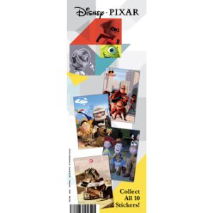 Best of Pixar Sticker Display Card