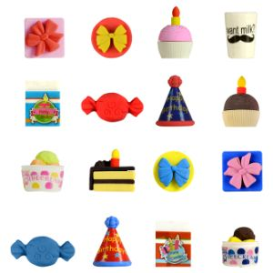 Birthday Party Erasers in 1.1'' Capsules (250 pcs)