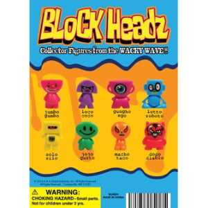 Blockheadz Figurines Display Card