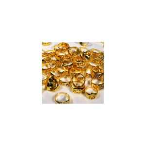Polished Gold-Toned Rings in Bulk Bag (100 pcs)