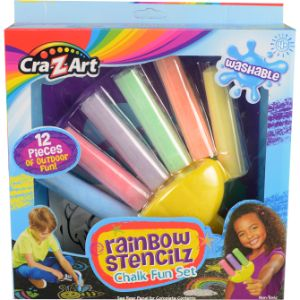 Cra-Z-Art Rainbow Stencilz Chalk