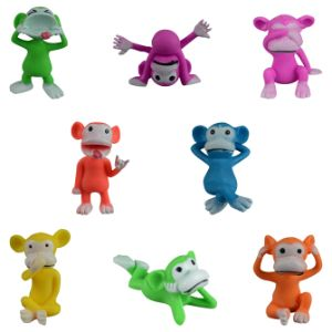 Neon Cheeky Chimp Figurines in Bulk Bag (100 pcs)
