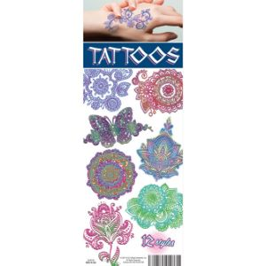 Henna Colors Tattoos Display Card